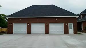 3 door garage 3 car detached garage pool house clarksville quality homes