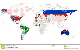 World Map With Flags 2014 World Cup Flag Map Royalty Free Stock Images Image 37269399