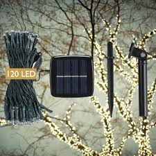 Decorating With String Lights Devida Solar String Lights 120 Warm White Led Easy To Install