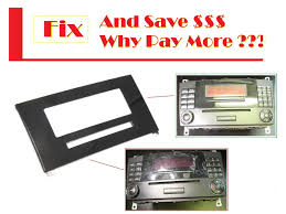 radio cd player stereo face plate w209 clk350 display screen