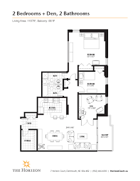 Den Floor Plan Apartments In Dartmouth Ns Horizon Court Properties Horizon Court