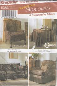 simplicity home decor simplicity slipcovers u0026 pillows sewing pattern 5383 traditional