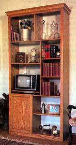 Free Woodworking Plans Bookshelves by Free Tall Bookshelf Woodworking Plans From Shopsmith