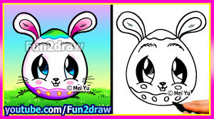 how to draw a bunny egg fun2draw youtube