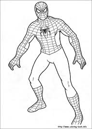 spiderman pictures color coloring pages free blueoceanreef