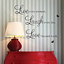 amazon com vinyl decal live every moment laugh every day love