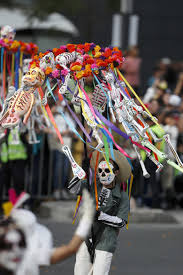 day of dead parade honors mexican quake victims rescuers the performers participate in the day of the dead parade on mexico city s main reforma avenue