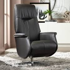 augusta charcoal faux leather recliner chair 23t43 lamps plus