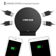 amazon com desktop charging station seenda 4 port usb charger