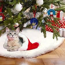 faux fur tree skirt aerwo faux fur christmas tree skirt 48 inches snowy white tree skirt