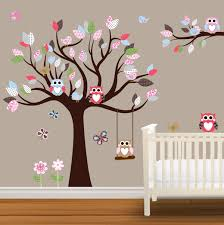 Personalized Name Wall Decals For Nursery by Baby Nursery Decor Wooden Tree Baby Nursery Decal Simple Stickers
