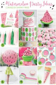 the best way to welcome summer have a watermelon party whether