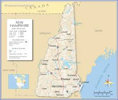 Manchester Vt Map Reference Map Of New Hampshire Usa Nations Online Project