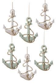 4 75 wooden anchor ornaments 6 set on hautelook coastal