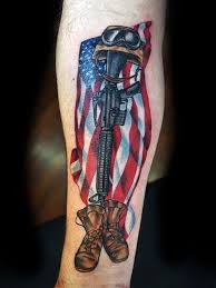 55 heroic american flag tattoos
