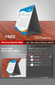 desain kalender meja keren download mock up kalender meja 3d pamali desain