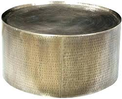 gold drum coffee table gold hammered coffee table copper round drum coffee table round