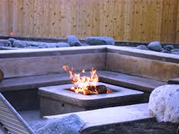 concrete block fire pit home fireplaces firepits outdoor
