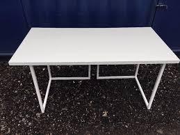 Linnmon Corner Desk by Ikea Linnmon White Table Top With Habitat Nic White Trestle Legs