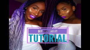 grey and purple combined together style box breads how to box braid summer protective style purple grey ombre