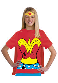 child wonder woman t shirt costume