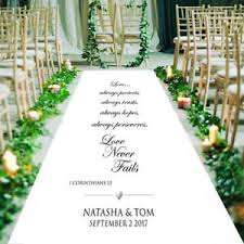 personalized wedding aisle runner personalised wedding aisle runner church wedding carpet