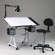 Craft Table Desk Drawing Art Hobby Craft Table Desk W Drawers Side Tray