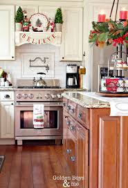 cabinet how to decorate top of kitchen cabinets for christmas