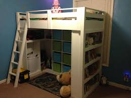 Ana White Camp Loft Bed With Stair Junior Height Diy Projects by 28 Best Bunk Beds Images On Pinterest 3 4 Beds Home And Lofted Beds