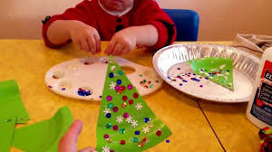 easy paper plate christmas tree craft youtube