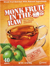 monk fruit in the raw zero calorie sweetener packets 40 ct