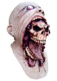 burping charlie skull mask mens scary and gory skeleton masks