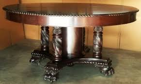 c1900 classical empire banquet dining table carved solid