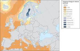 the sea map global and european sea level european environment agency