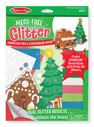 amazon com melissa u0026 doug mess free glitter christmas tree and