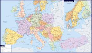 Map Of Europe Countries Large Map Of Europe Thefreebiedepot