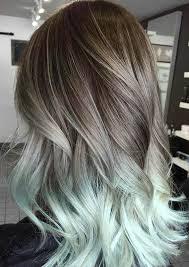 how to blend in gray hair with brown hair silver hair grey hair mint hair balayage hair by oceanlockshair