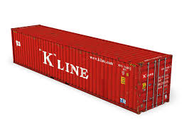 40ft shipping container k line 3d cgtrader