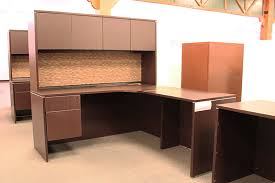 Used Office Source LShaped Desk with Hutch  OFW Pittsburgh