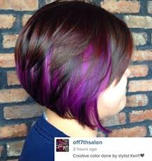 short hairstyles with peekaboo purple layer i want my color like this but brown on top blonde on the bottom