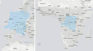 True Size World Map by The True Size Of The Congo Or The Evolution Of The Map Of Africa