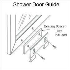 Shower Door Bottom Guide Parts For Shower Doors Comfy Sliding Shower Door Bottom Guide