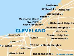 map of cleveland cleveland maps and orientation cleveland ohio oh usa