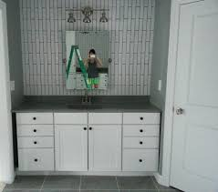 using kitchen cabinets for bathroom vanity surprising decorating ideas using rectangular mirrors and