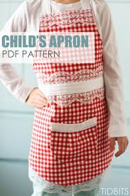 farmhouse apron pdf pattern children s apron and pdf