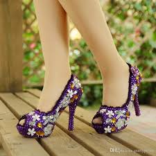 wedding shoes size 9 purple wedding shoes high heel bridal shoes handmade
