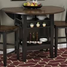 Drop Leaf Bistro Table Jofran Braden Birch 48 Counter Height Table With Drop