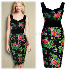 christmas cocktail party dress women s hawaiian holiday floral tropical floral print bodycon
