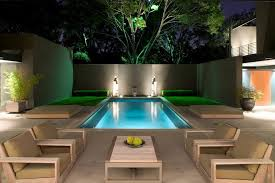 landscape lighting ideas patio contemporary with urban wooden