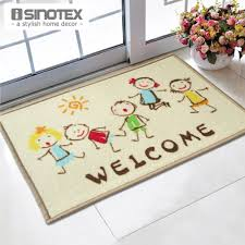 welcome doormat 40x60cm cartoon kids printed tapetes bath mat for